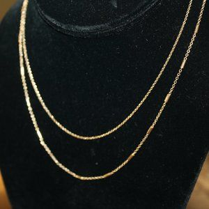 Gold Two Sting Necklace